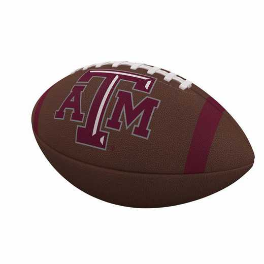 219-93FC-1: TX A&M Team Stripe Official-Size Composite Football