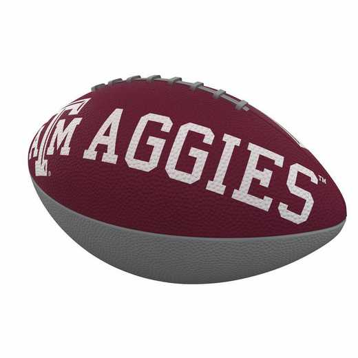 219-93JR-1: TX A&M Combo Logo Junior-Size Rubber Football