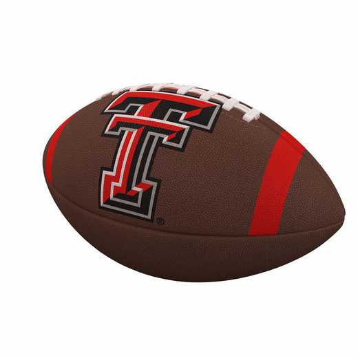 220-93FC-1: TX Tech Team Stripe Official-Size Composite Football