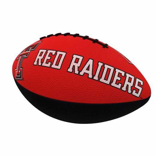 220-93JR-1: TX Tech Combo Logo Junior-Size Rubber Football