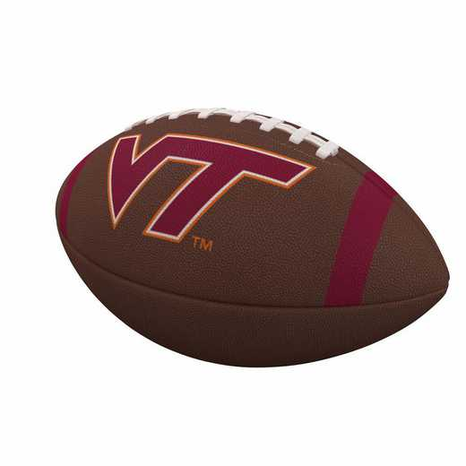 235-93FC-1: Virginia Tech Team Stripe Official-Size Composite Football
