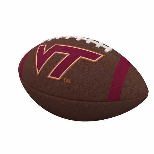 235-93FC-1: Virginia Tech Team Stripe Official-Size Composite Football
