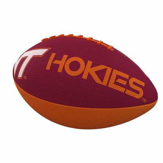 235-93JR-1: Virginia Tech Combo Logo Junior-Size Rubber Football