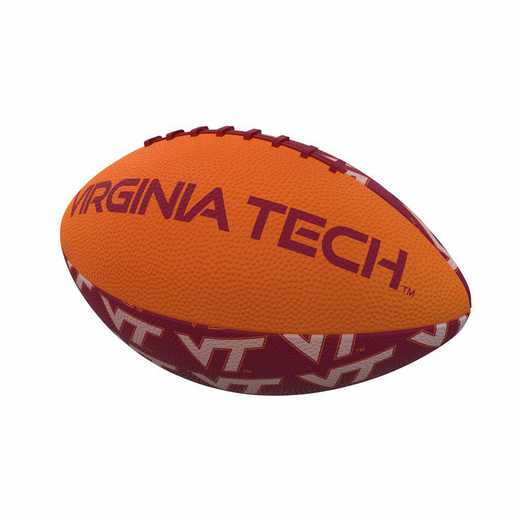235-93MR-3: Virginia Tech Repeating Mini-Size Rubber Football