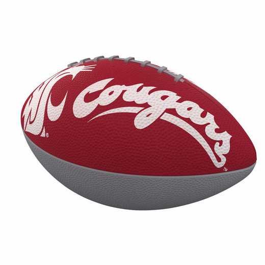 238-93JR-1: WA State Combo Logo Junior-Size Rubber Football