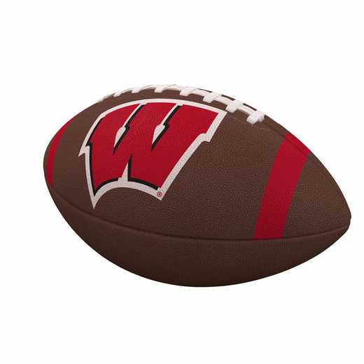 244-93FC-1: Wisconsin Team Stripe Official-Size Composite Football
