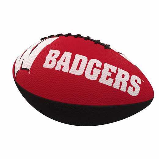 244-93JR-1: Wisconsin Combo Logo Junior-Size Rubber Football