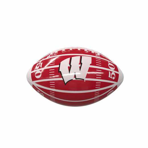 244-93MG-2: Wisconsin Field Mini-Size Glossy Football