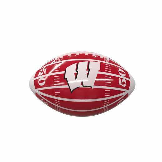 244-93MG-2: Wisconsin Field Mini-Size Glossy Football