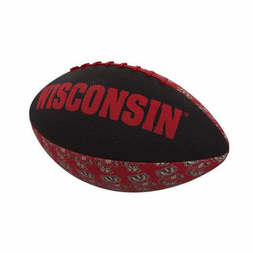 244-93MR-3: Wisconsin Repeating Mini-Size Rubber Football