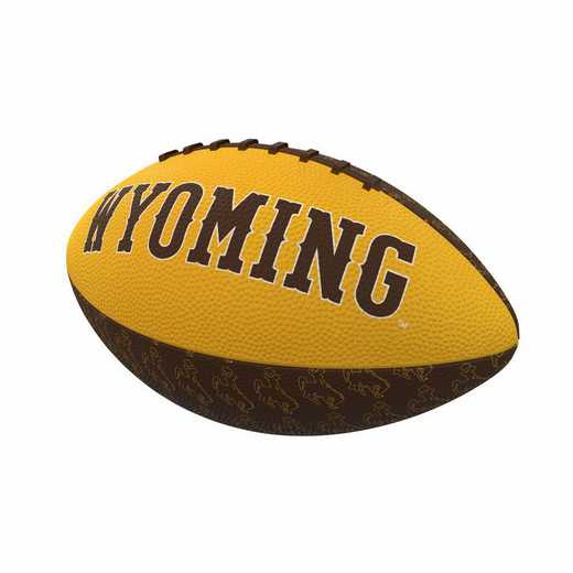 245-93MR-3: Wyoming Repeating Mini-Size Rubber Football
