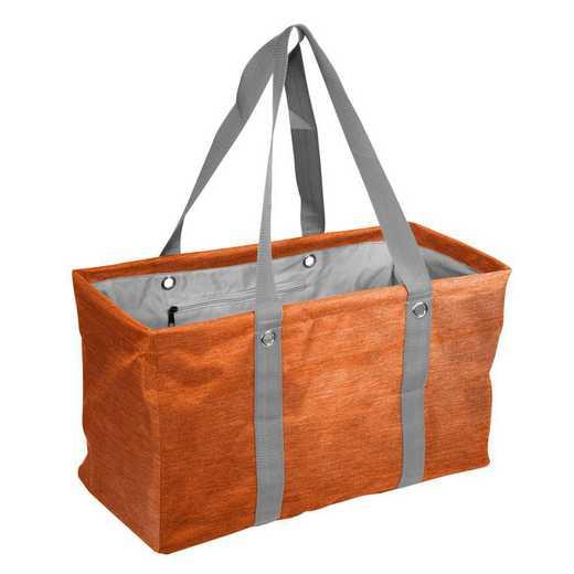 001-765CR-ORANGE: Plain Orange Crosshatch Picnic Caddy