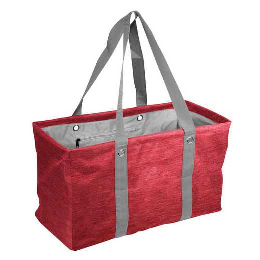 001-765CR-RED: Plain Red Crosshatch Picnic Caddy