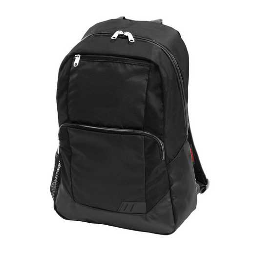 001-86-BLACK: Plain Black Closer Backpack