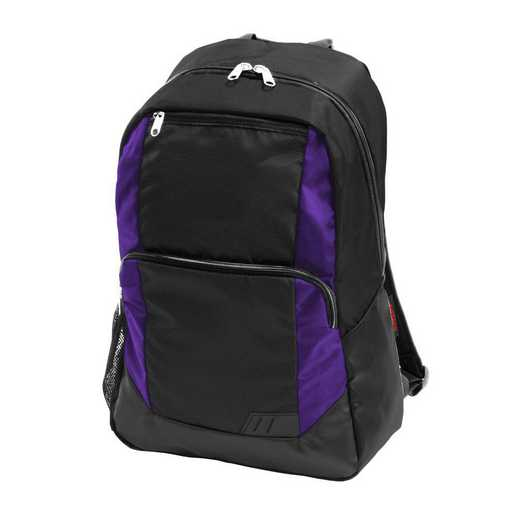 001-86-PURPLE: Plain Purple Closer Backpack