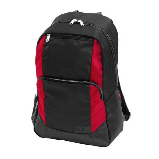 001-86-RED: Plain Red Closer Backpack