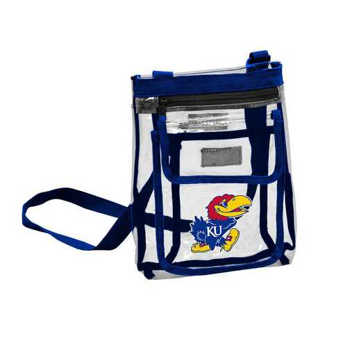157-66P: Kansas Gameday Clear Crossbody