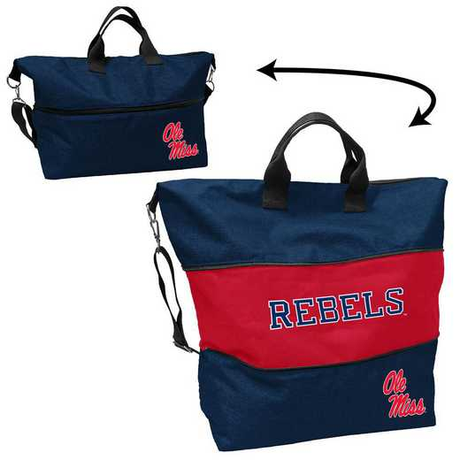 176-665-CR1: Ole Miss Crosshatch Expandable Tote