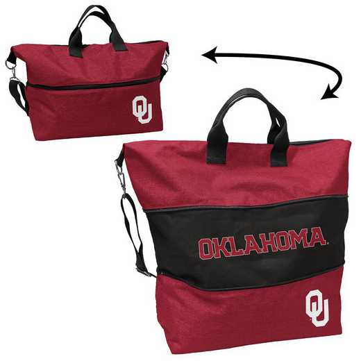 192-665-CR1: Oklahoma Crosshatch Expandable Tote