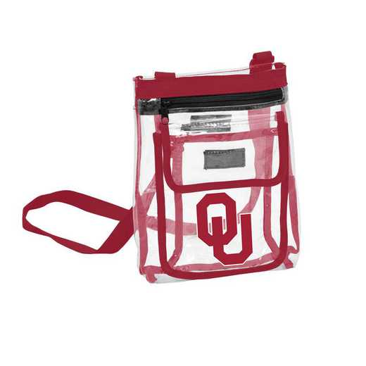 192-66P-1: Oklahoma Gameday Clear Crossbody