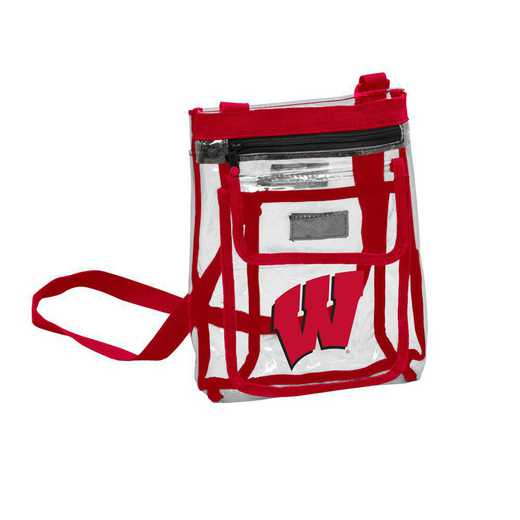 244-66P: Wisconsin Gameday Clear Crossbody