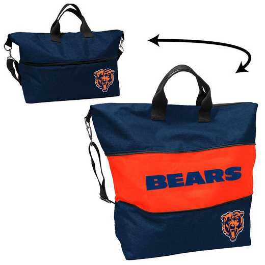 606-665-CR1: Chicago Bears Crosshatch Expandable Tote