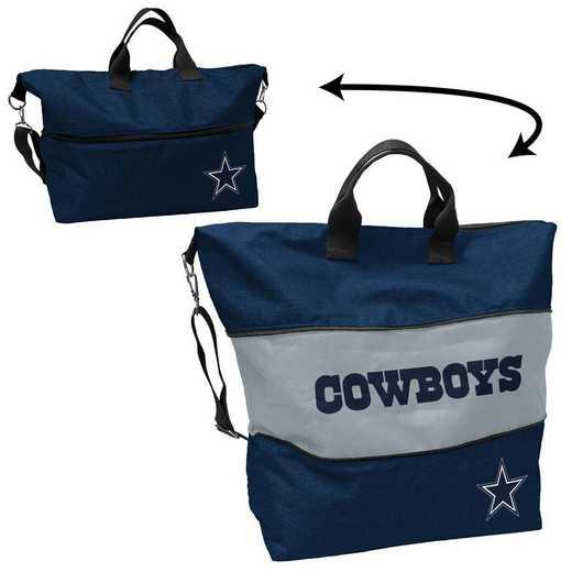 609-665-CR1: Dallas Cowboys Crosshatch Expandable Tote