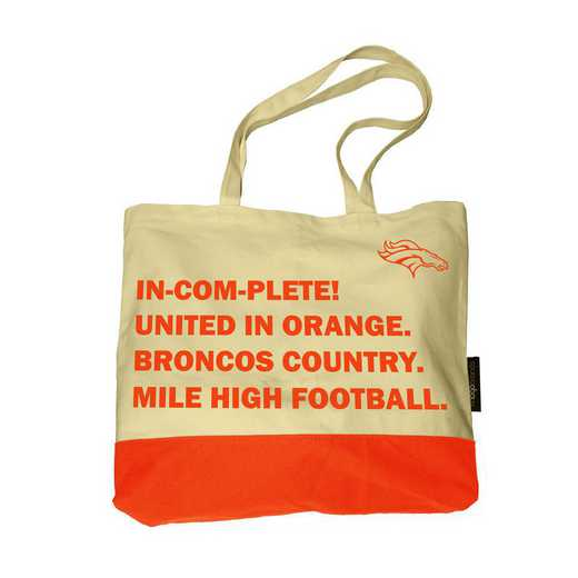 610-66F: Denver Broncos Favorite Things Tote