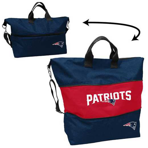 619-665-CR1: New England Patriots Crosshatch Expandable Tote