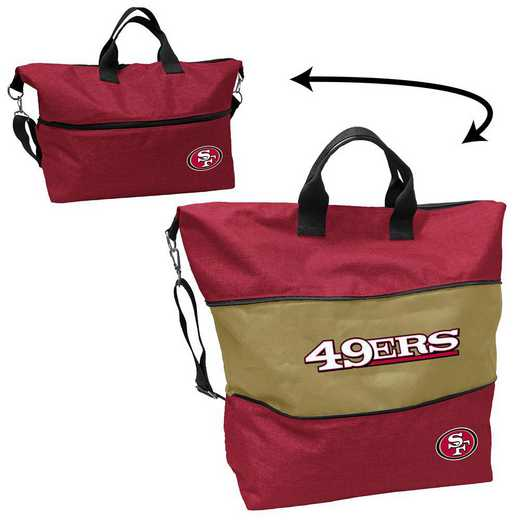 627-665-CR1: San Francisco 49ers Crosshatch Expandable Tote
