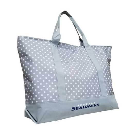 628-67P-1: Seattle Seahawks Dot Tote