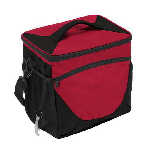 001-63-CARDINAL: Plain Cardinal 24 Can Cooler
