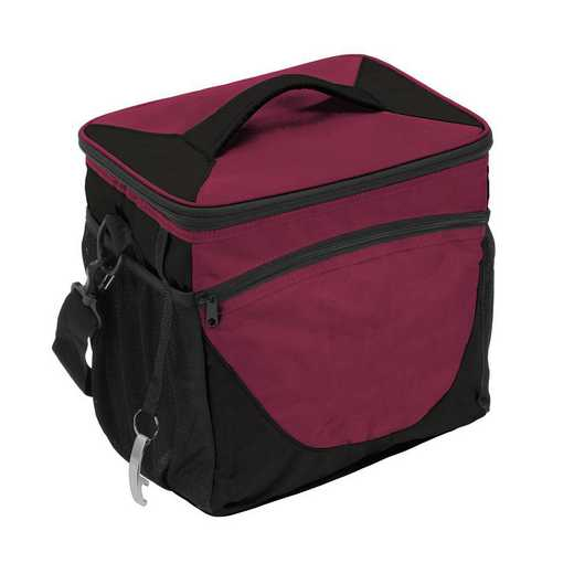 001-63-MAROON: Plain Maroon 24 Can Cooler