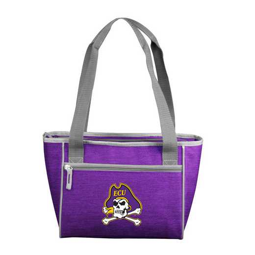 131-83-CR1: East Carolina Crosshatch 16 Can Cooler Tote