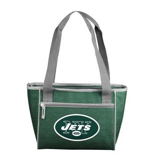 622-83-CR1: New York Jets Crosshatch 16 Can Cooler Tote