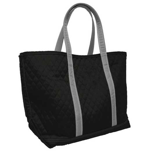 001-66M-BLK: Plain Black Merit Tote