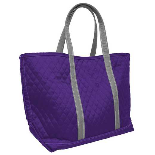 001-66M-PRP: Plain Purple Merit Tote