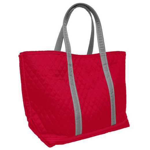 001-66M-RED: Plain Red Merit Tote