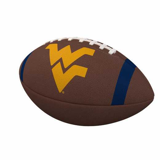 239-93FC-1: West Virginia Team Stripe Official-Size Composite Football