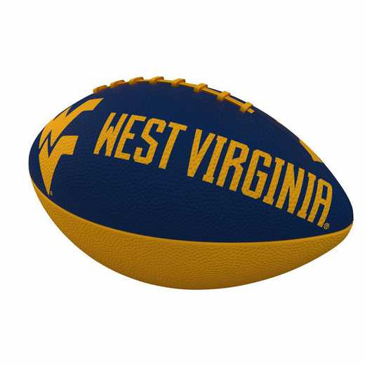 239-93JR-1: West Virginia Combo Logo Junior-Size Rubber Football
