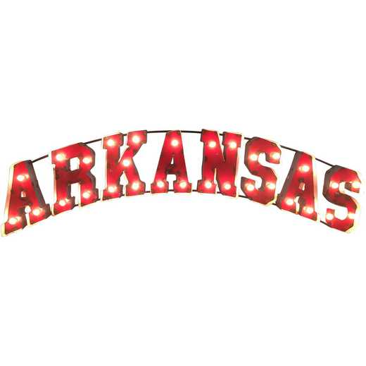 ARKANSASWDLGT: Arkansas Metal Décor w/Lights