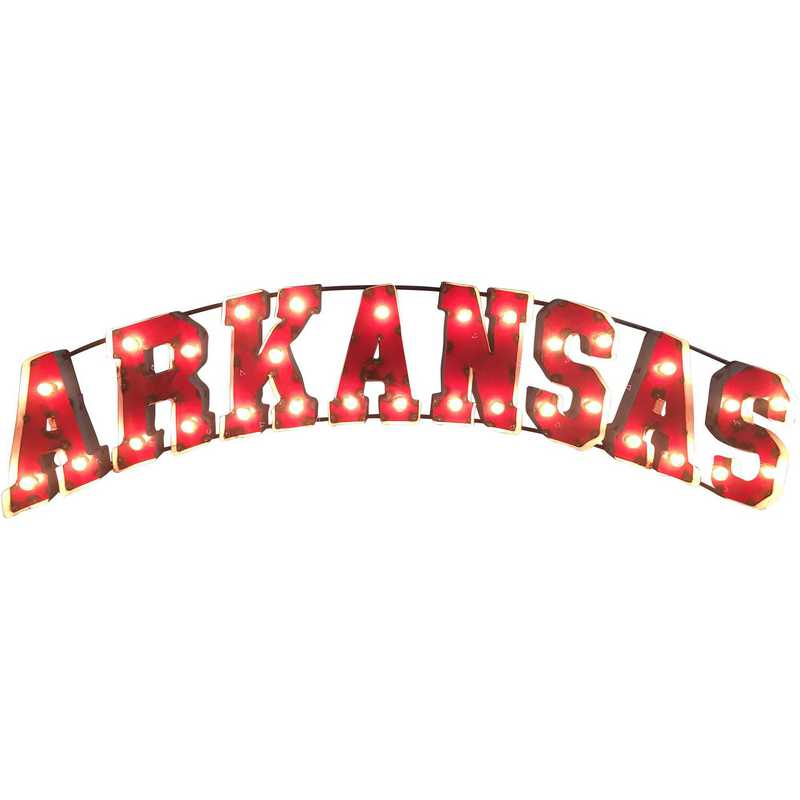 ARKANSASWDLGT: Arkansas Metal Décor w/Lights