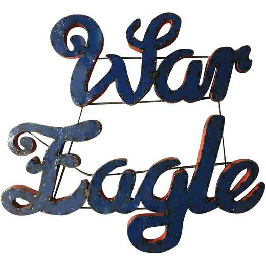 WAREAGLEWD: Auburn War Eagle Metal Decor