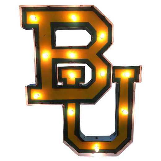 BUWDLGT: Baylor BU Metal Décor w/Lights