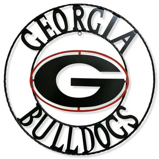 "GA1WRI18: Georgia 18""  Round Metal Art"