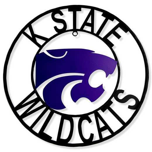 """KSWRI18: Kansas State 18""""  Round Metal Art"""