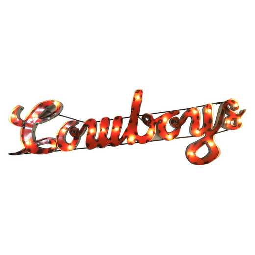 COWBOYSWDLGT: OSU Cowboys Metal Décor w/Lights