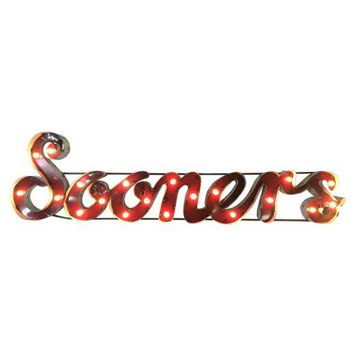 SOONERSWDLGT: OU Sooners Metal Décor w/Lights