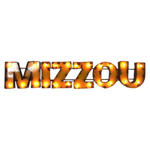MIZZOUWDLGT: Mizzou Metal Décor w/Lights
