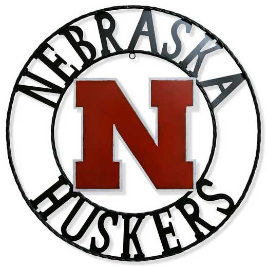 "NEWRI18: Nebraska 18""  Round Metal Art"